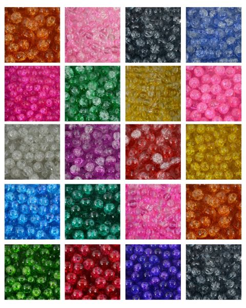 Round Glass Crackle Beads Bulk Sale Jewellery Making Craft Jewelry Beading