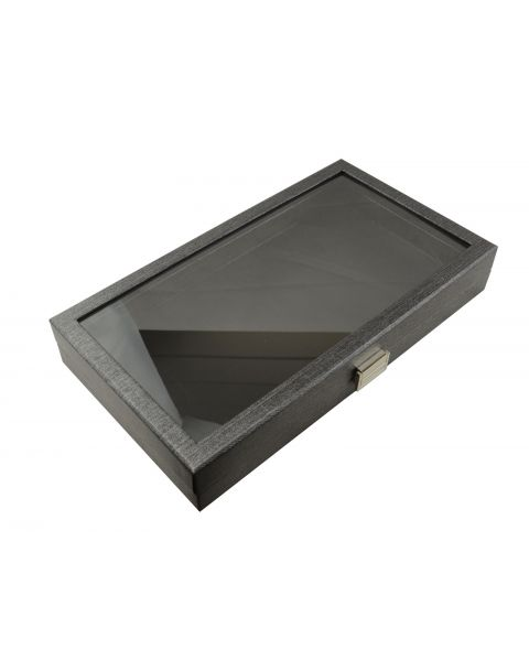 Full Size Display Tray Case snap close Clear Acrylic lid - BD8385
