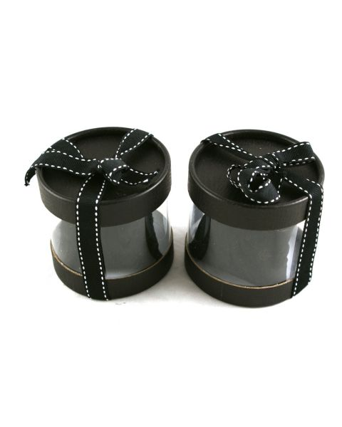 Cylindrical Watch/Bracelet Box with Bow