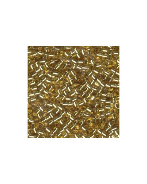 DELICA BEADS 8/0 SILVER LINED GOLD DBL-0042