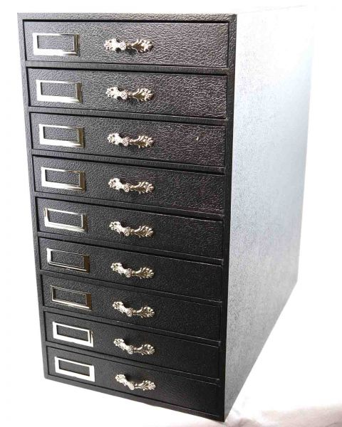 Deluxe 9 Drawer Storage Organizer with Silver Handles - BD8802