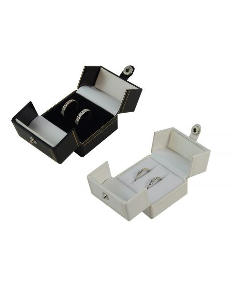 Double Door Button Double Ring Box from £2.30 each (BRW)