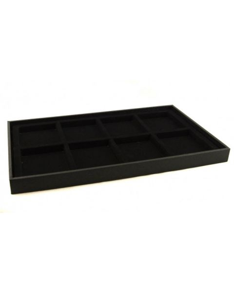 Full Size Black 1 Inch Deep Utility Display Tray with a Choice of Black Insert