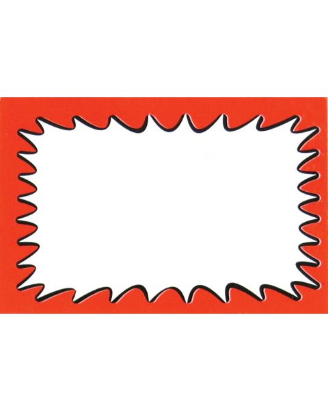 Pack of 50 Large Price Sign - Plain (BD1150)