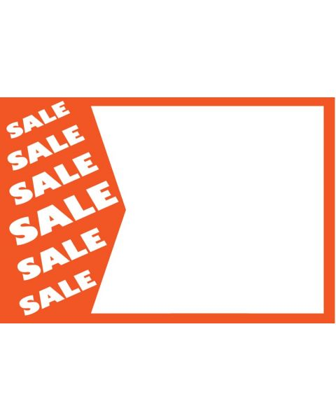 Pack of 50 Large Price Sign - Sale Print (BD1162)