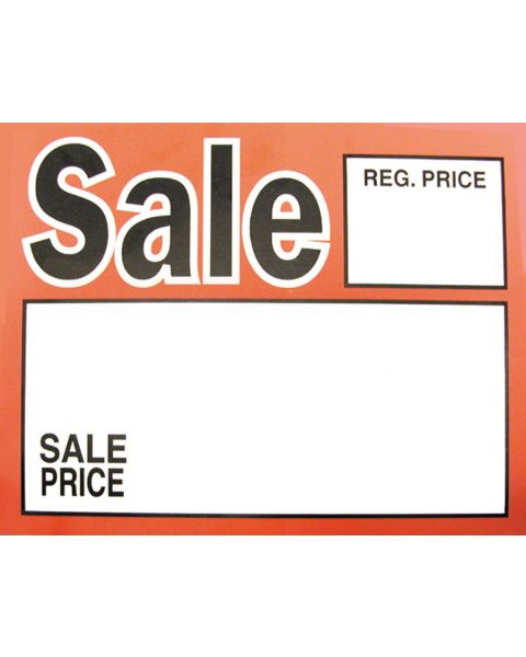 Pack of 50 Large Price Sign - Sale with Price print (BD1151)