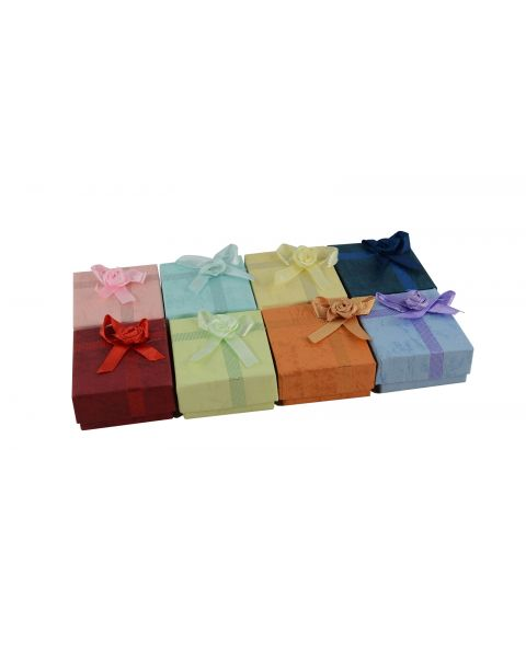 16 x Assorted Colours Earring Boxes with Bows from 44p each