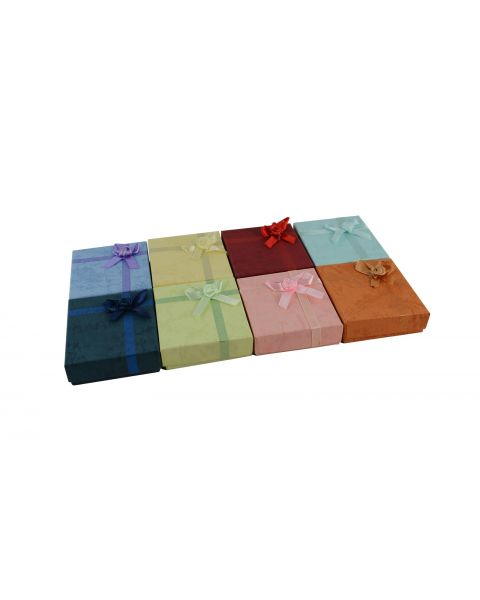 16 x Assorted Colours Pendant / Drop Earring Boxes with Bows from £0.59 each