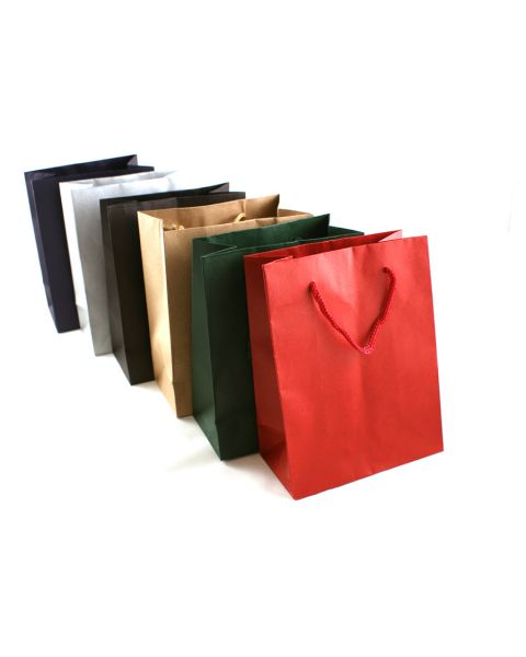 **FURTHER REDUCTION** Matt Drawstring Paper Gift Bags - Pack Of 12 - Choice of Size and Colour **Special Offer**