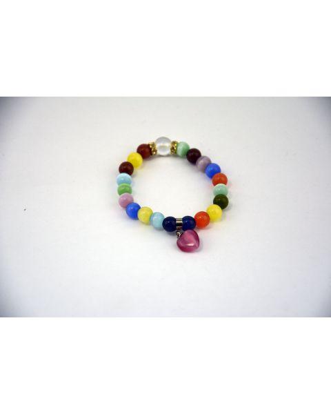 Mixed Colour Cats Eye Bracelet (53850-113)