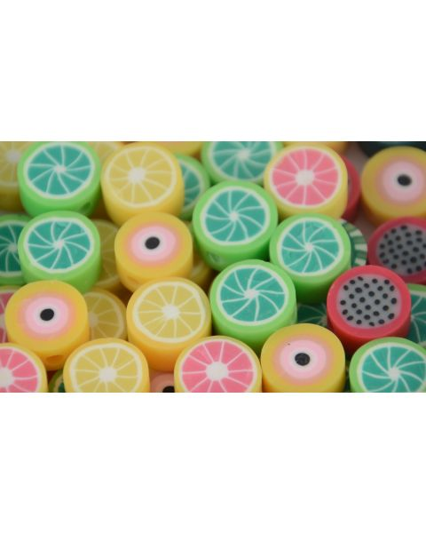 20pcs Assorted Clay Fruit Bead - Bracelet/Necklace Making Beads