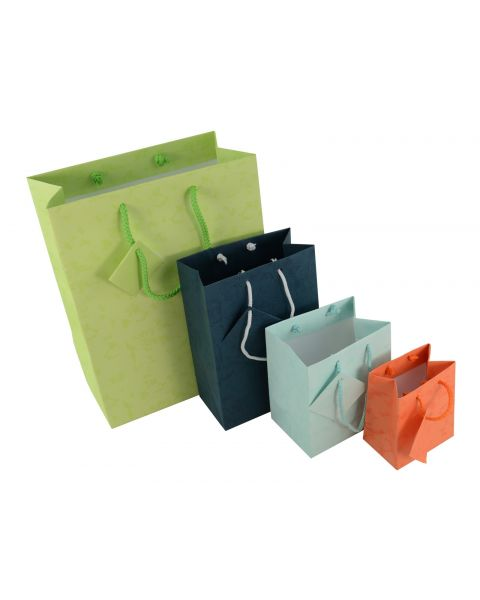 Mixed Colours Drawstring Gift Bags with Tags - Pack of 20 from £5.99