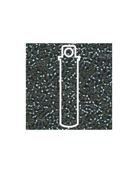 Miyuki 11/0 Seed Bead Matte Silver Lined  Grey - 24g Tube