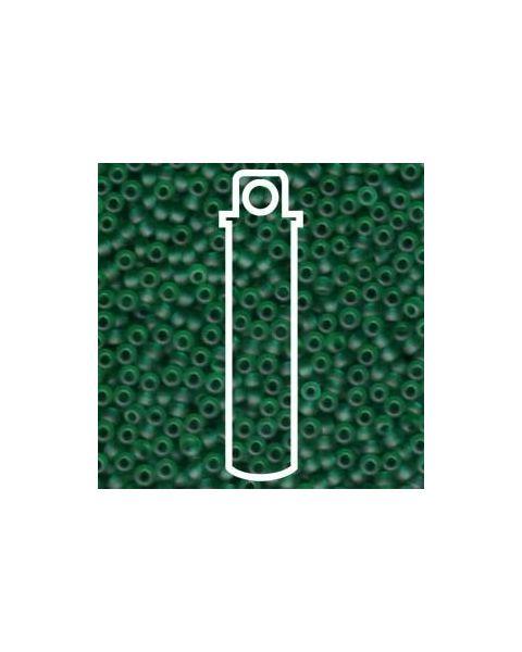Miyuki 11/0 Seed Bead Matte Transp Dark Green- 24g Tube