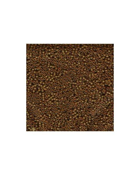 Miyuki 11/0 Seed Bead Matte Transp Light Brown - 24g Tube