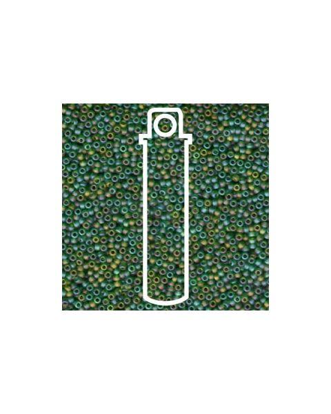 Miyuki 11/0 Seed Bead Matte Transparent Green AB- 24g Tube