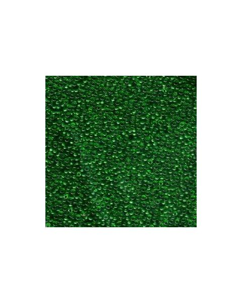 Miyuki 11/0 Seed Bead Transparent Green - 24g Tube