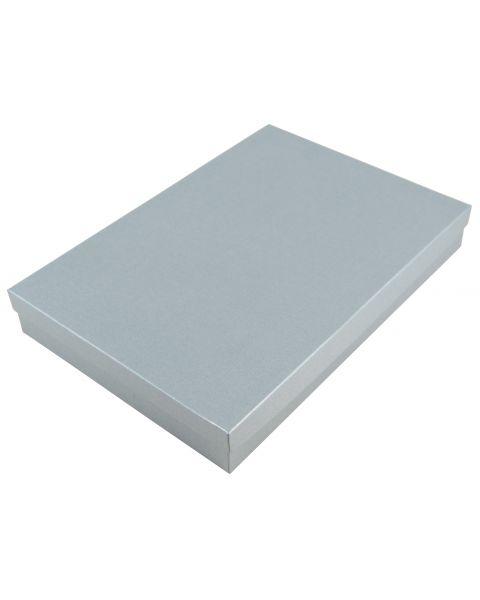 40 Silver Plain Large Necklace/Sets/Tiara/Universal Box Size 12 - white cotton