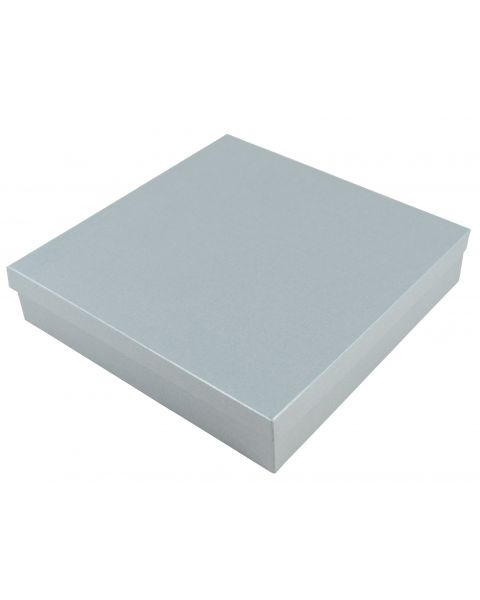 40 Silver Plain X-Large Deep Necklace/Sets/Tiara/Universal Box Size 15 - cotton insert