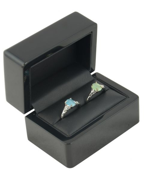 Ebony Wooden Double Ring Box (WB-10) from £7.95 each