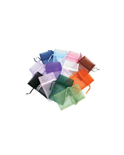 12 Organza Drawstring Pouches - Size & Colour Choice