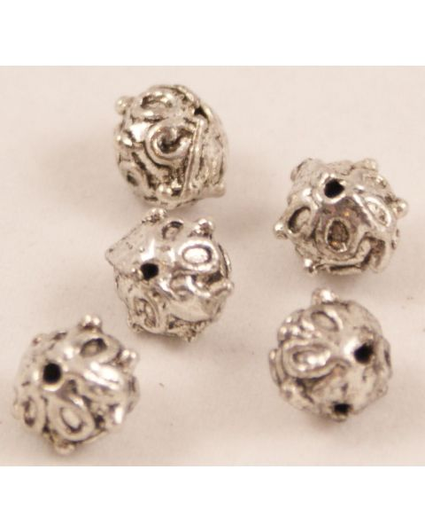 Pack of 20 Decorative Ball Metal / Spacer Beads 8mm (280452-181)