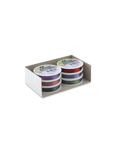 Pack of 6 Assorted Colour 7 Strand Wire .015' 30ft