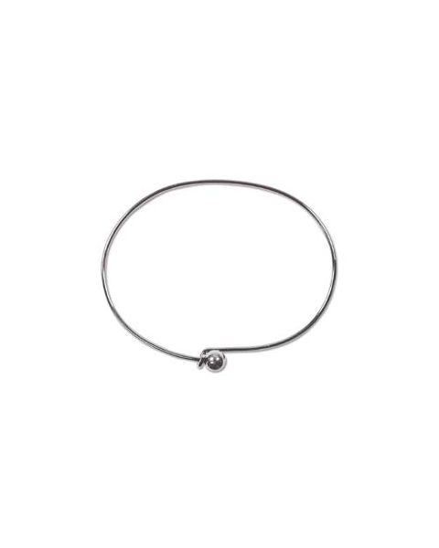 Pack of 6 Bracelet Wires - Nickel Plated (BWE68NP)