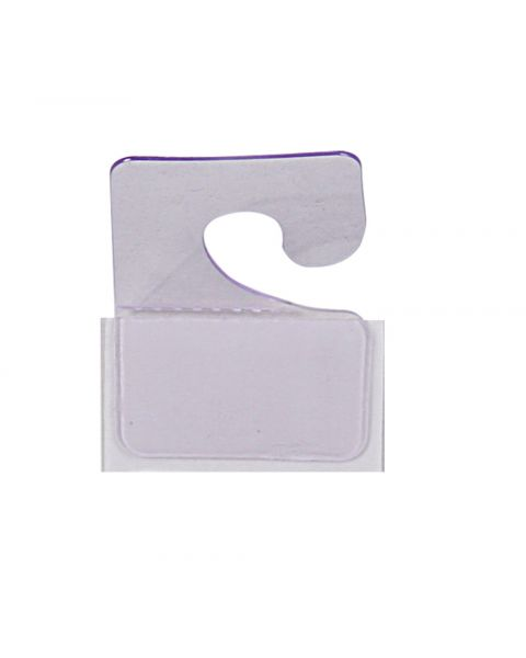 200 Clear Plastic J-Hook Tabs