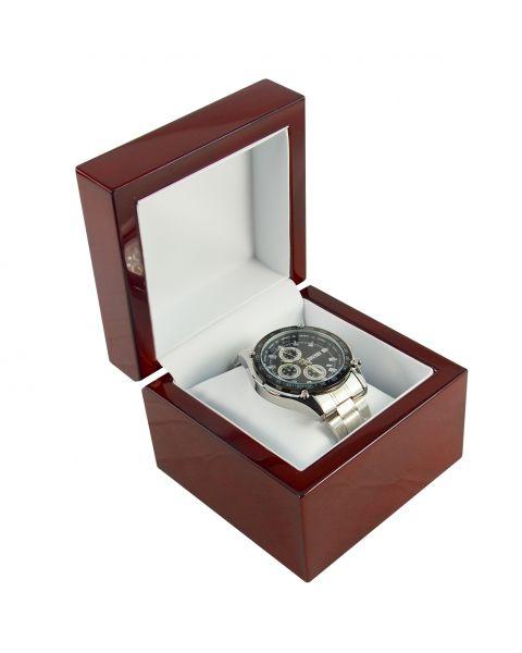 Premium Glossy Rosewood Veneer Wooden Watch / Bracelet Pillow Box - BDW8 - from £11.50 each