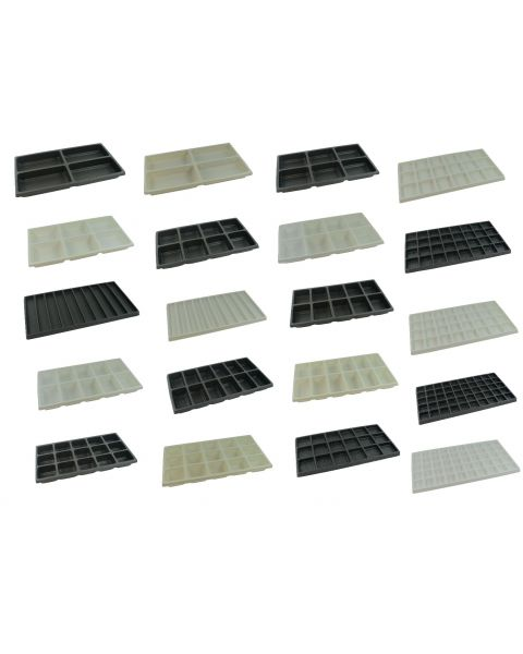 Plastic Stackable Compartment Trays (PT--)