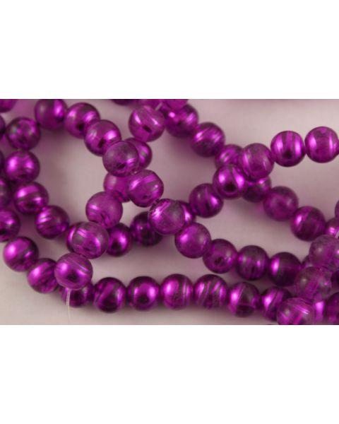Purple Translucent Glass Beads 8mm (40115-20)