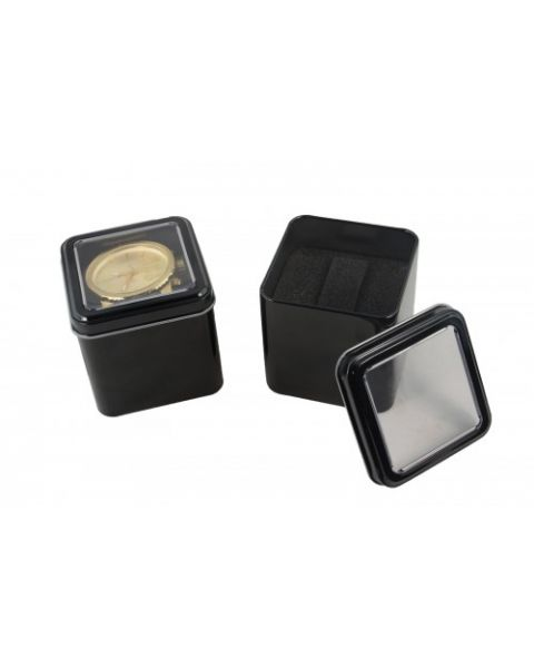 10 x Black Square Aluminium Watch/Bracelet Display Boxes *Special Offer Half Price*