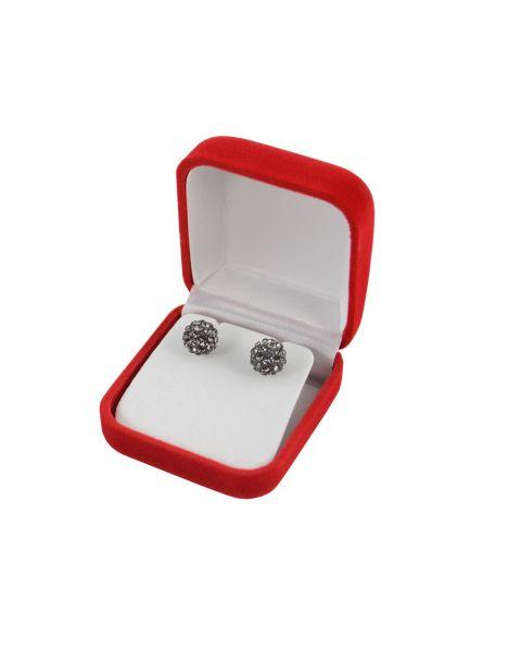 Pack of 24 Red Velvet Earring Boxes