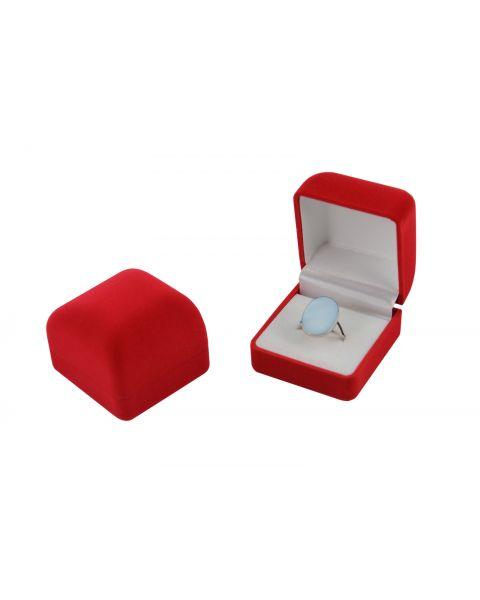 Pack of 24 Red Velvet Ring Boxes
