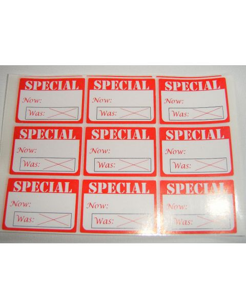 Self Adhesive Labels 'Special Now Was' Print - Pack of 504