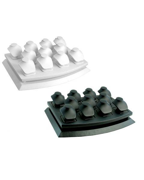 Leatherette 11 Mini Bust Showcase Set - Colour Choice - SET115L