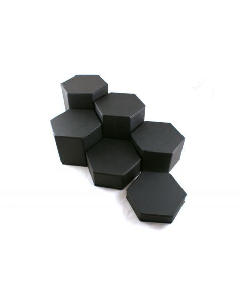 Six Piece Large Hexagon Riser Set (BD513L-1) - Colour Choice