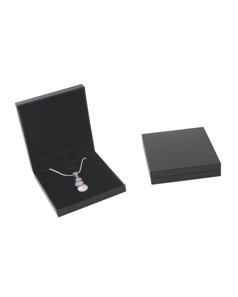 Slim Black Leatherette Small Necklace / Pendant Box