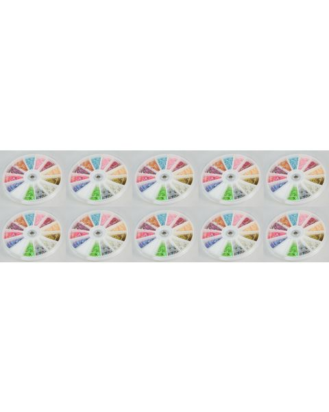 Pack of 10 Multi Coloured Star Shaped Bead Craft Art Wheels **Special Offer**