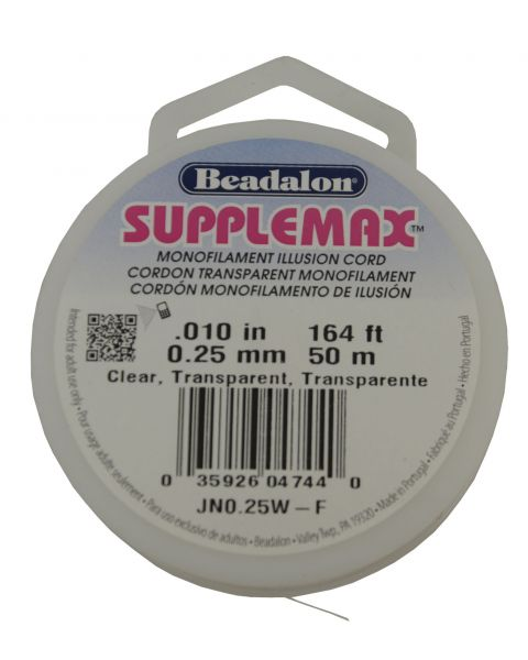 Beadalon Supplemax Illusion cord .10 Inch / 50m