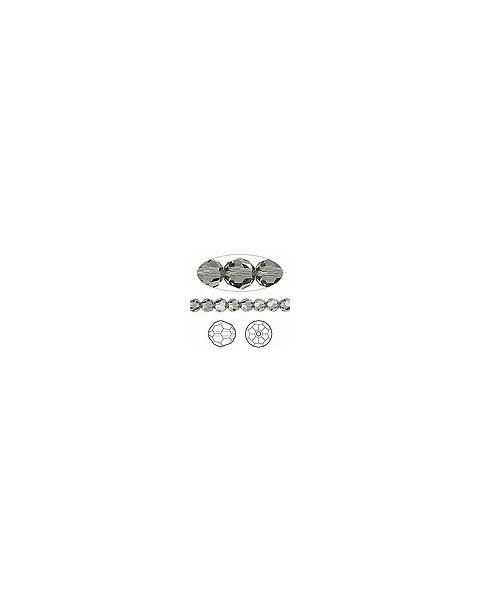 Swarovskiï¾® Crystal 6mm Faceted Round, Black Diamond (5000)