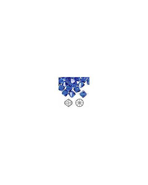 Swarovskiï¾® Crystal, Sapphire, 10mm Xilion bicone (5328).