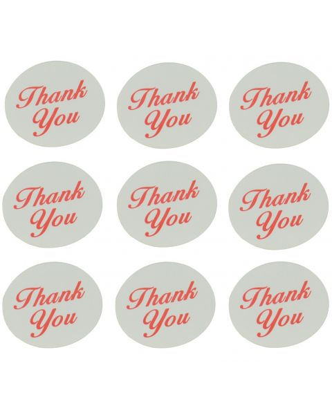 """Self Adhesive Labels - Round """"Thank You"""" Print - Pack of 510"""