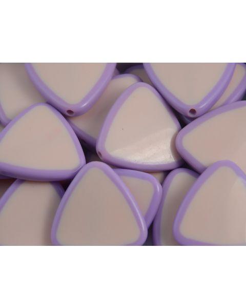 10pcs Triangle Pink/Purple Acrylic Resin Fashion Design Costume Jewellery Making Bead