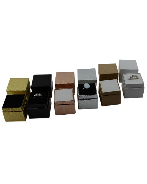 Lot of 100 Two Piece Card Ring Boxes ** Clearance **