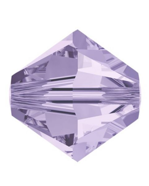 Bead, Swarovskiï¾® crystal, Violet, 3mm faceted Xilion bicone (5328). Sold per pack of 48.