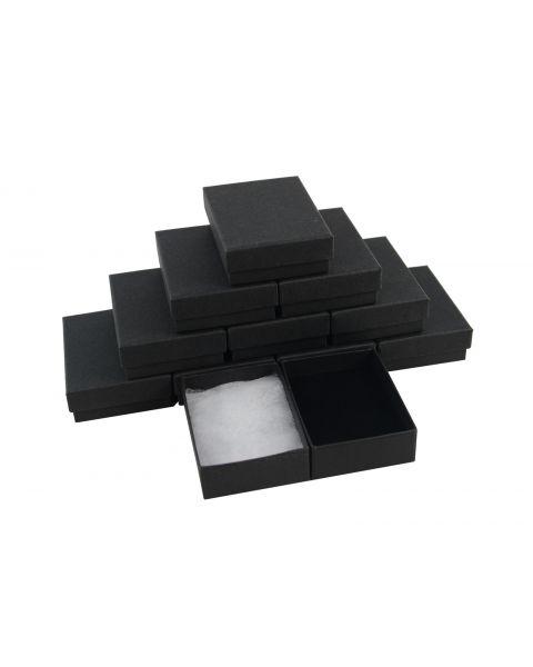 Matt Black Multi Purpose Large Letter Box Box - Plain Pendant / Charm (Size 4) from £0.38 each