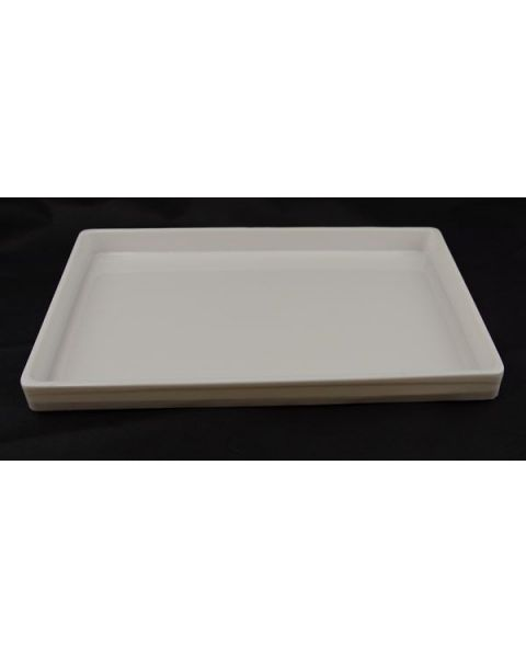 White One Compartment Heavy-Duty Plastic Stackable Trays (Light Weight) from £3.95