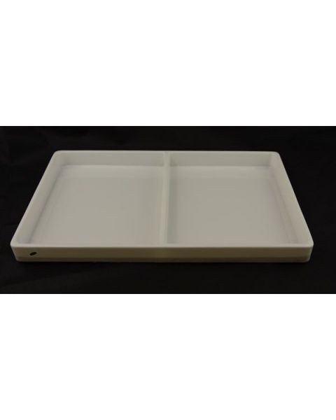 White Two Compartment Heavy-Duty Plastic Stackable Trays (Light Weight) from £3.95